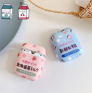 Strawberry Milk Airpods Protector Case JK2017