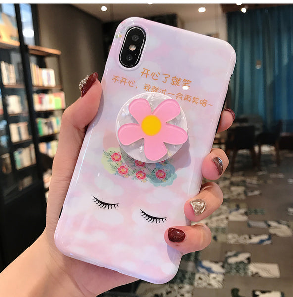 Lovely Flowers Phone Case for iphone 6/6s/6plus/7/7plus/8/8P/X/XS/XR/XS Max JK1232
