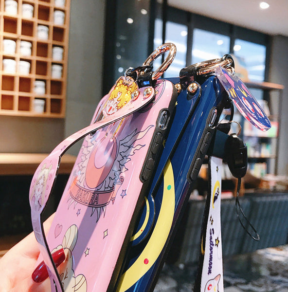 Sailormoon Wristband Phone Case for iphone 6/6s/6plus/7/7plus/8/8P/X/XS/XR/XS Max/11/11 pro/11 pro max JK1914