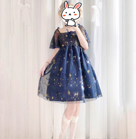 Star Lolita One-piece Dress JK1347