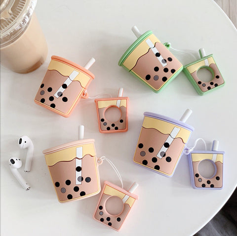Bubble Tea Airpods Protector  JK1323