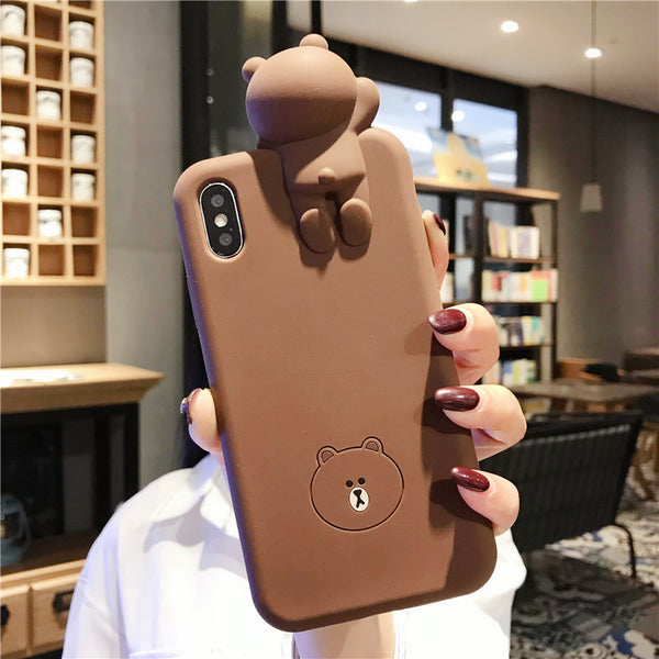 Brown and Cony Phone Case for iphone 6/6s/6plus/7/7plus/8/8P/X/XS/XR/XS Max JK1486