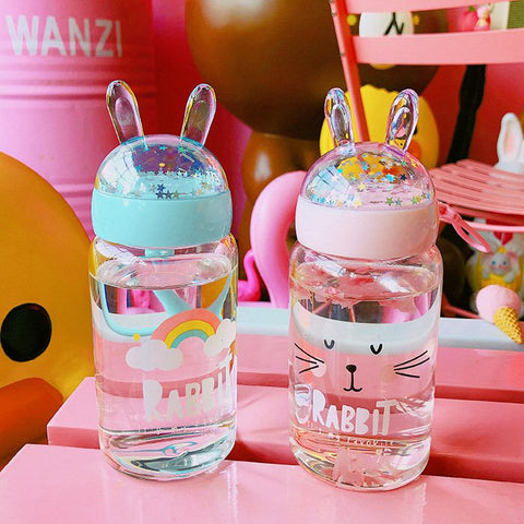 Rabbit Glass Water Bottle JK1097