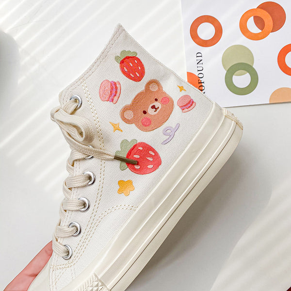 Lovely Bear Canvas Shoes JK2736