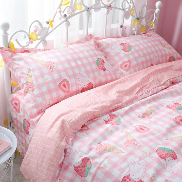Fashion Strawberry Bedding Set JK1911
