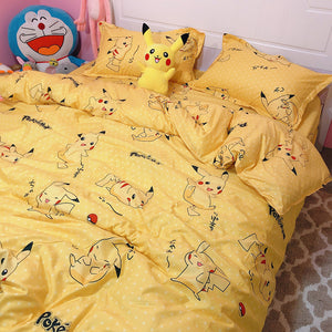 Lovely Pikachu Four Piece-suit Bedding JK2096