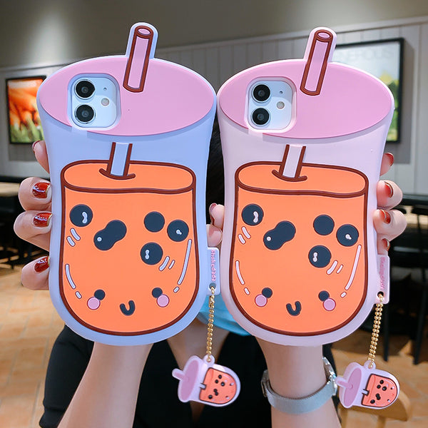 Sweet Bubble Tea Phone Case for iphone7/7plus/8/8P/X/XS/XR/XS Max/11/11 pro/11 pro max JK2453