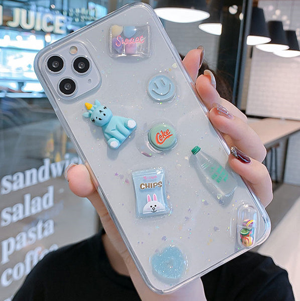 Sweet Candy Unicorn Phone Case for iphone 6/6s/6plus/7/7plus/8/8P/X/XS/XR/XS Max/11/11 pro/11 pro max JK2222