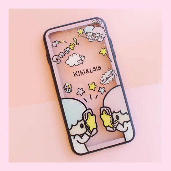 Little Twin Stars Phone Case for iphone 6/6s/6plus/7/7plus/8/8P/X/XS/XR/XS Max JK1341