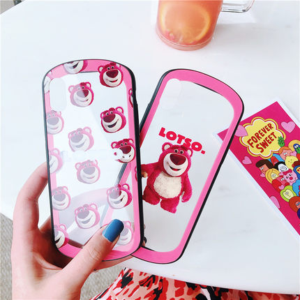 New Style Bear Glass Phone Case for iphone 6/6s/6plus/7/7plus/8/8P/X/XS/XR/XS Max JK1343