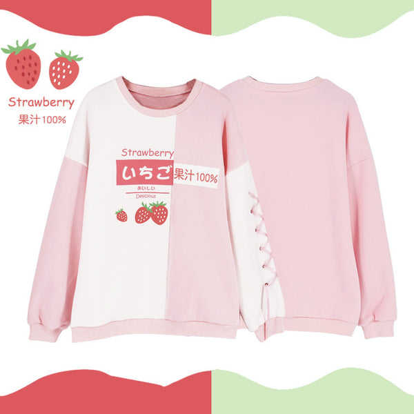Strawberry and Avocado Hoodie JK2010