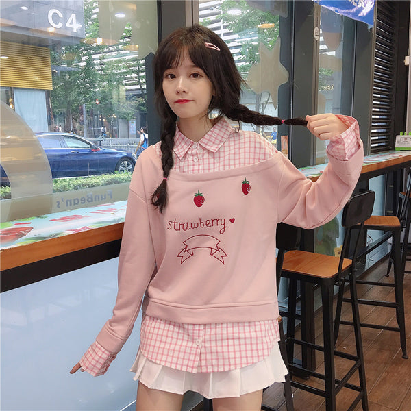 Fashion Strawberry Hoodie JK1788