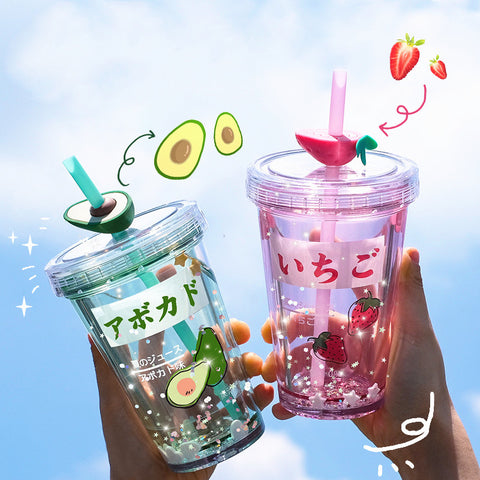 Strawberry and Avocado Water Bottle  JK2368