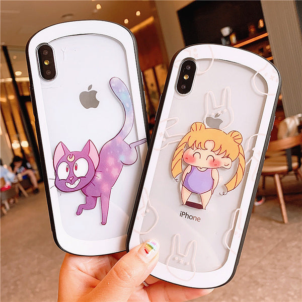 Kawaii Luna Phone Case for iphone 6/6s/6plus/7/7plus/8/8P/X/XS/XR/XS Max JK1665
