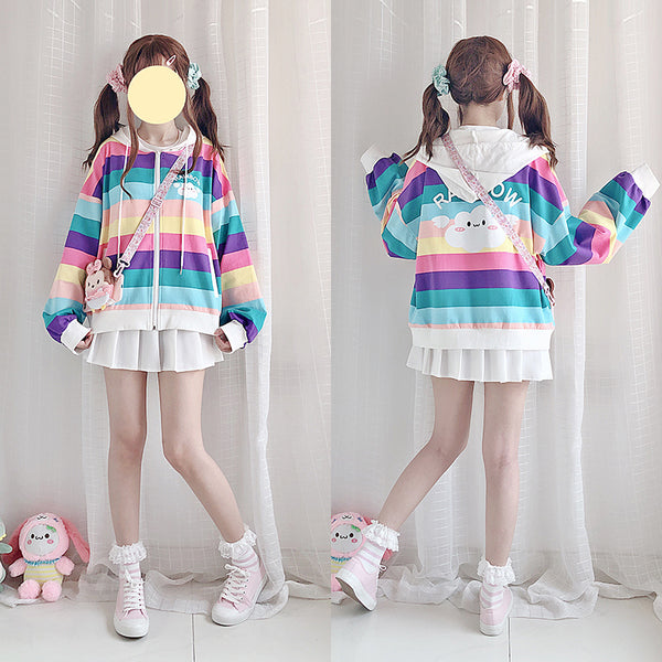 Kawaii Rainbow Cloud Coat JK1754