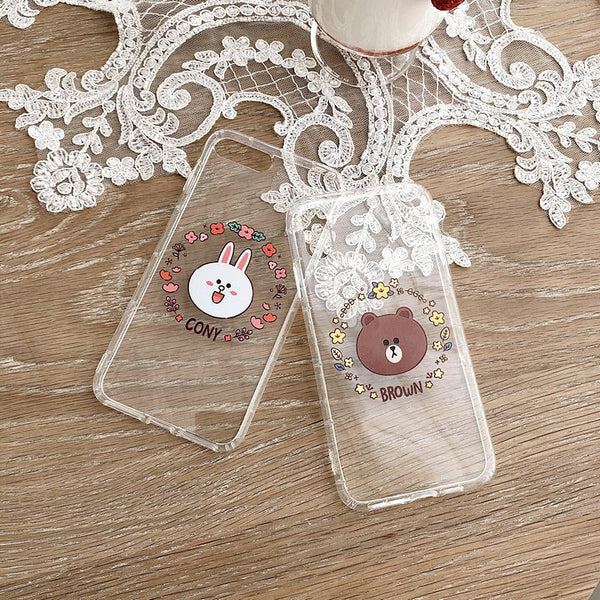 Brown and Cony Phone Case for iphone 6/6s/6plus/7/7plus/8/8P/X/XS/XR/XS Max JK1804