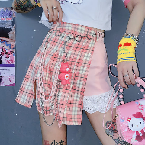 Fashion Girl Plaid Skirt JK2379