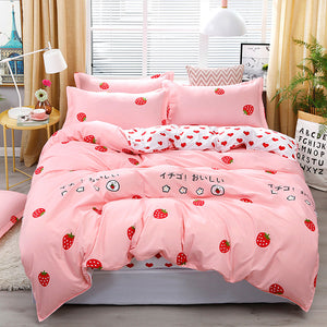 Fashion Strawberry Four Piece-suit Bedding JK1684