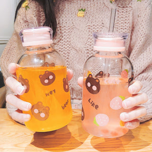 Bear and Fruits Water Bottle  JK2083