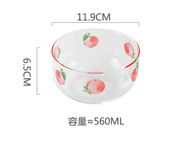 Cute Peach Printed Bowl JK2270