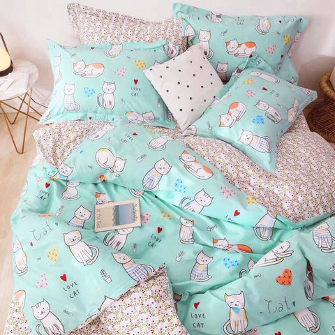 Lovely Cats Four Piece-suit Bedding JK1811