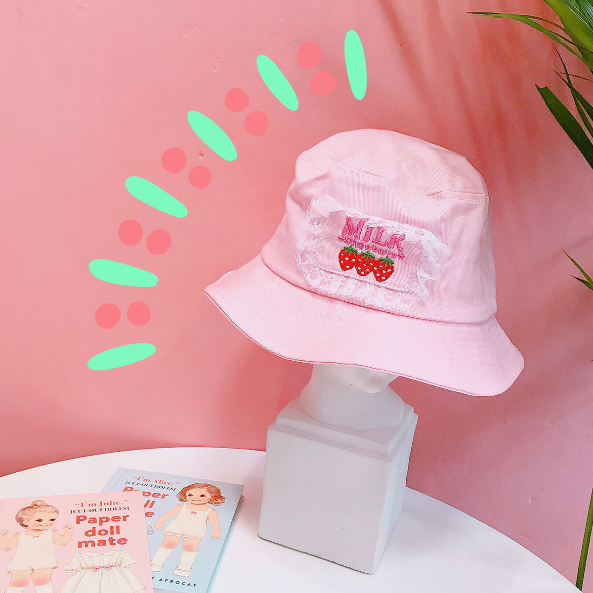 Pink Strawberry Sun Hat JK1214