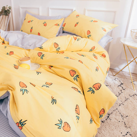 Kawaii Carrot Four Piece-suit Bedding JK1158
