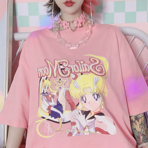 New Style Loose Sailormoon T-shirt JK1645