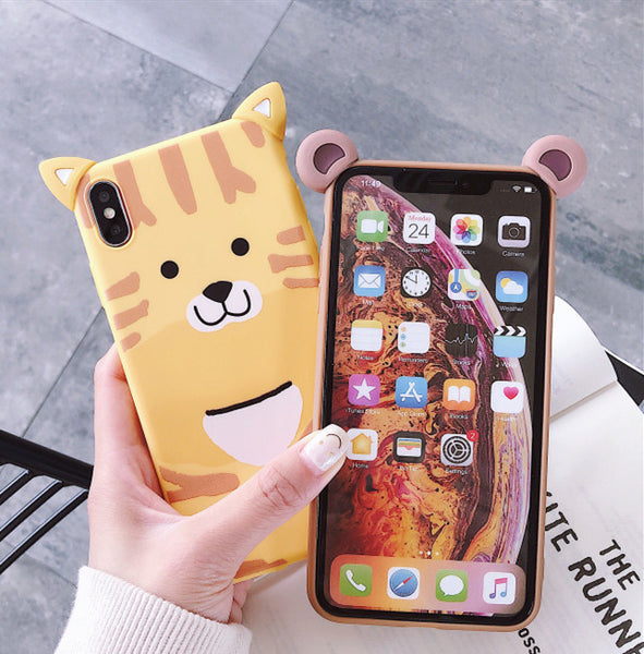 Bear and Tiger Phone Case for iphone 6/6s/6plus/7/7plus/8/8P/X/XS/XR/XS Max JK1520