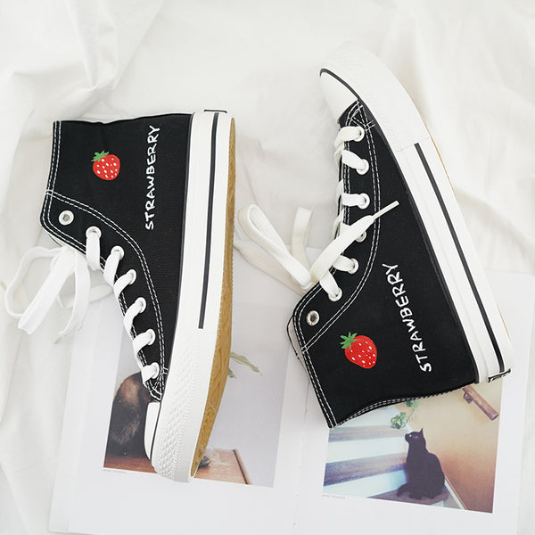Fashion Strawberry Canvas Shoes JK2207
