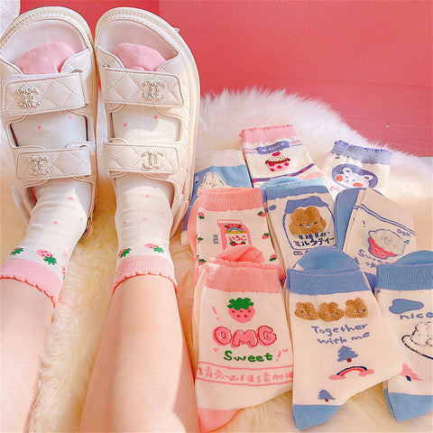 Cute Strawberry Socks JK2675