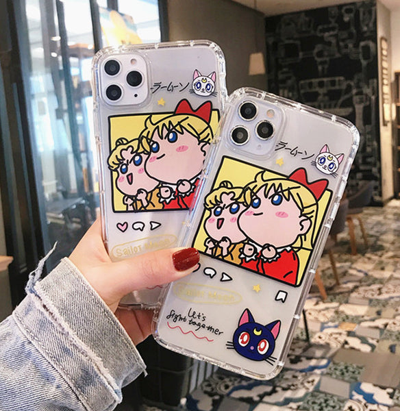 Lovely Sailormoon Phone Case for iphone 7/7plus/8/8P/X/XS/XR/XS Max/11/11 pro/11 pro max JK1931