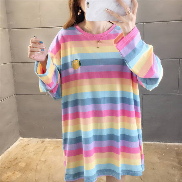 Colorful Rainbow Long Sleeve T-shirt JK1773