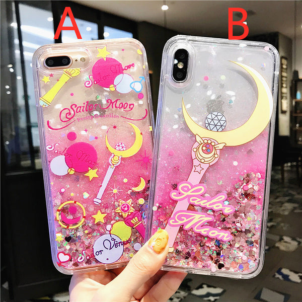 Sailormoon Quicksand Phone Case for iphone 6/6s/6plus/7/7plus/8/8P/X/XS/XR/XS Max JK1733