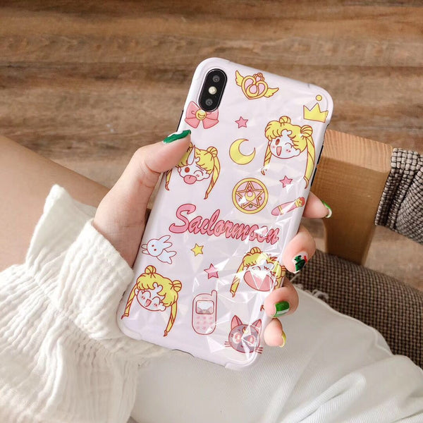 Sailormoon Girls Phone Case for iphone 6/6s/6plus/7/7plus/8/8P/X/XS/XR/XS Max JK1541