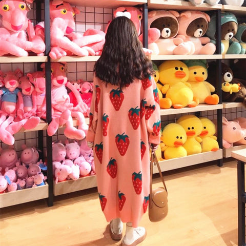 Fashion Strawberry Sweater Dress JK1169