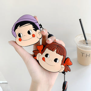 Kawaii Boy and Girl Airpods Protector Case  JK1439