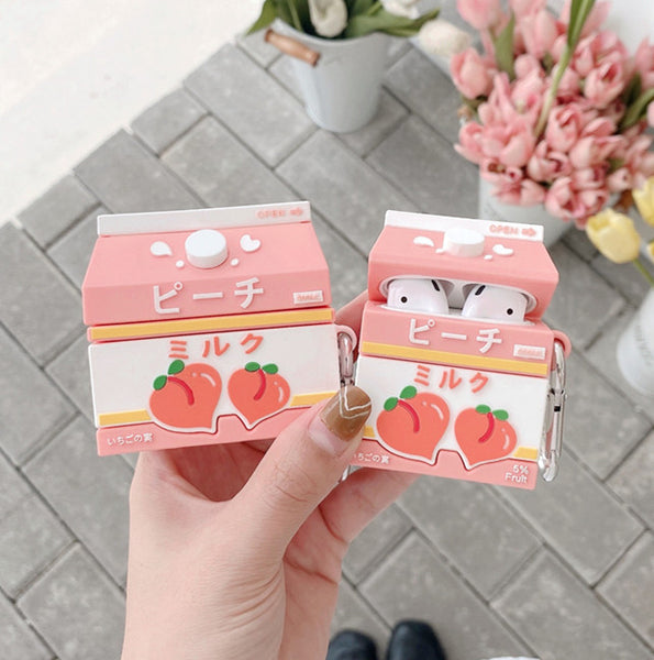 Sweet Peach Milk Airpods Protector Case JK2725
