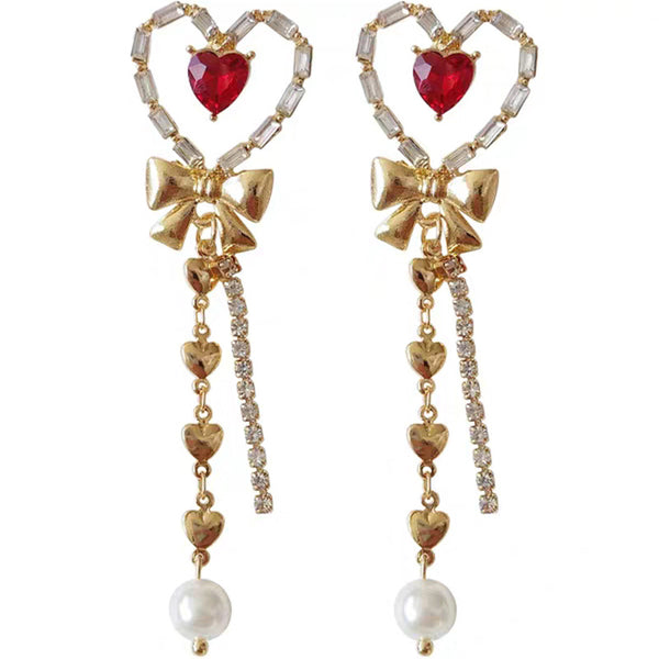 Sweet Heart Earrings/Clips JK1358
