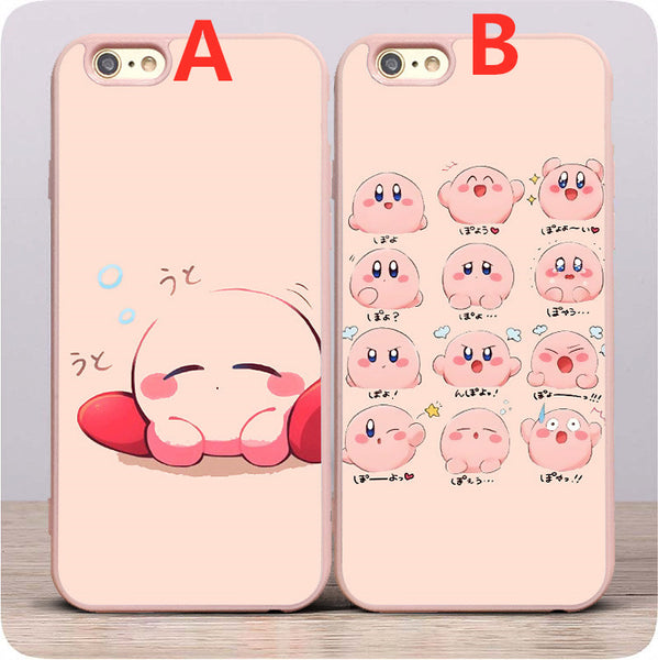 Pink Kirby Phone Case for iphone 6/6s/6plus/7/7plus/8/8P/X/XS/XR/XS Max JK1790