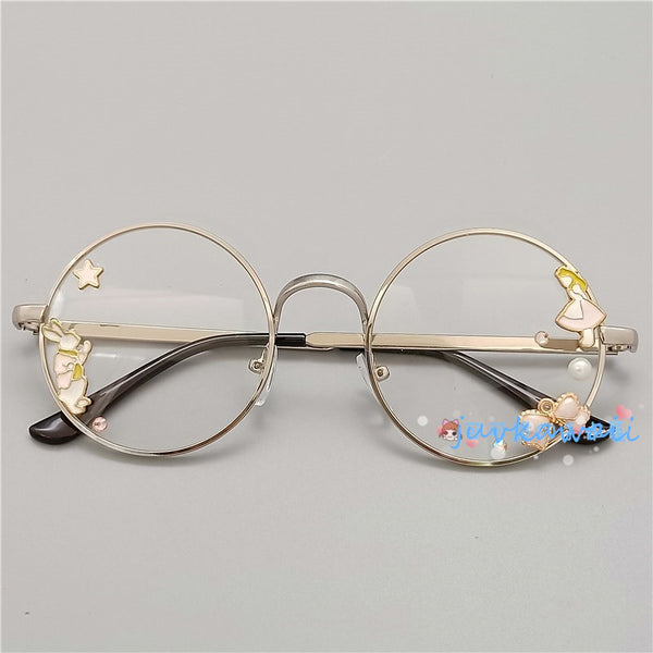 Fashion Lolita Flowers Glasses JK1297