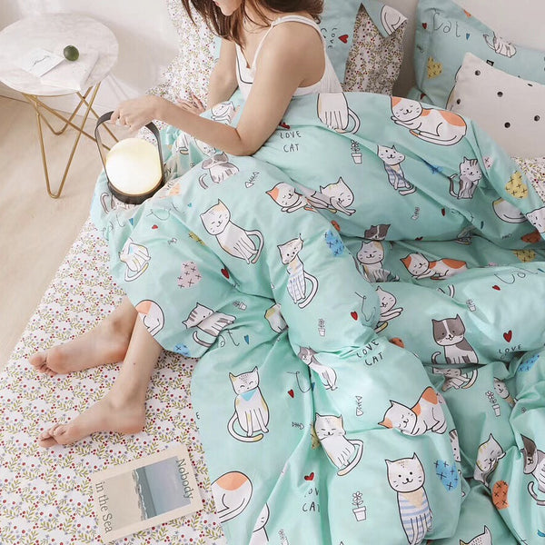 Lovely Cats Bedding Set JK1811