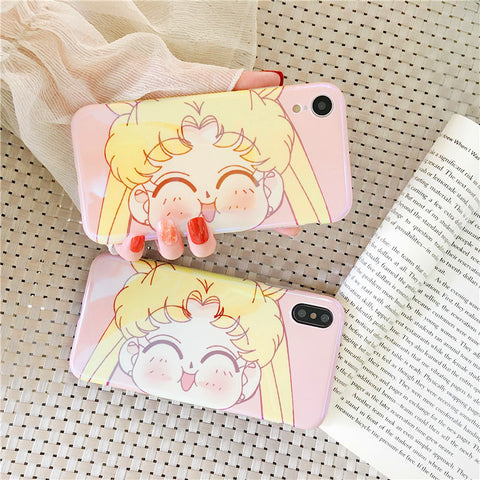 Big Face Usagi Phone Case for iphone 6/6s/6plus/7/7plus/8/8P/X/XS/XR/XS Max JK1286