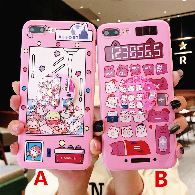 Kawaii Cats and Calculator Phone Case for iphone 6/6s/6plus/7/7plus
