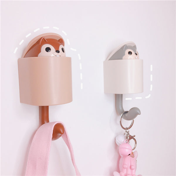 Cute Squirrel Glue Hook JK1369
