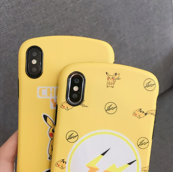Kawaii Pikachu Phone Case for iphone 6/6s/6plus/7/7plus/8/8P/X/XS/XR/XS Max JK1416