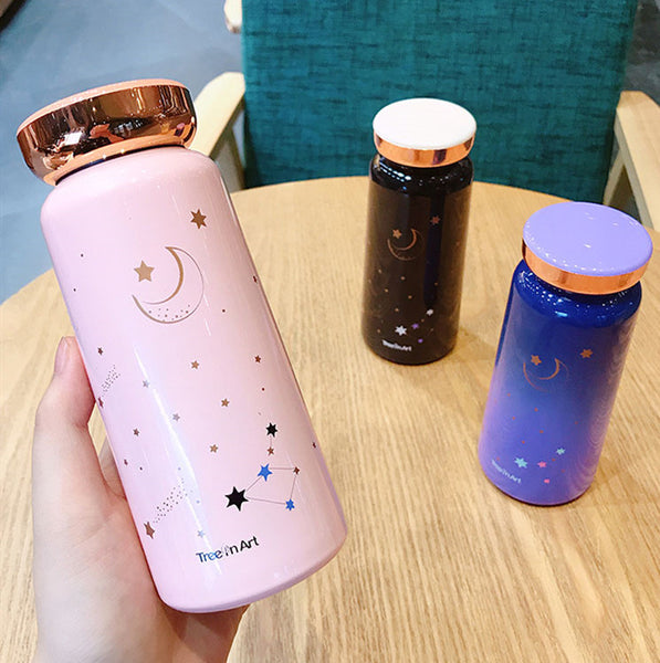 Moon and Star Stainless Steel Vacuum Water Bottle JK1747