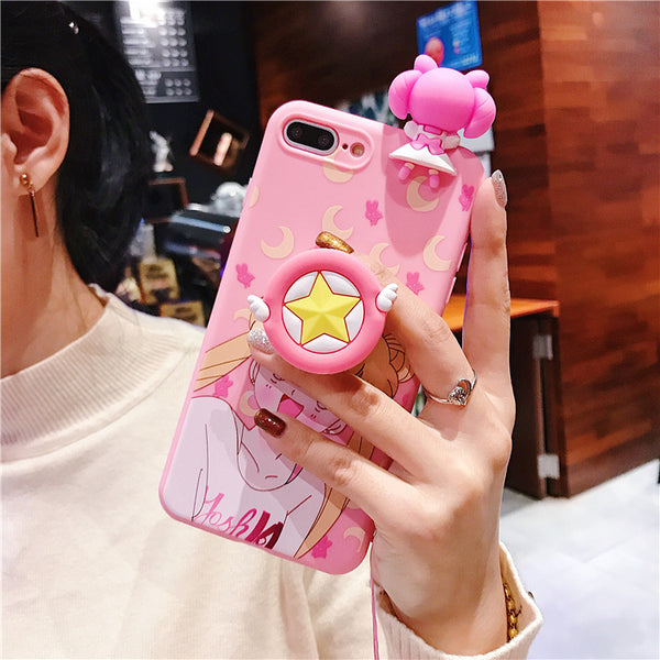 Pink Usagi Phone Case for iphone 6/6s/6plus/7/7plus/8/8P/X/XS/XR/XS Max JK1240