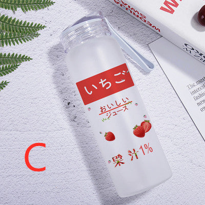 Fashion Strawberry Glass Water Bottle  JK1687