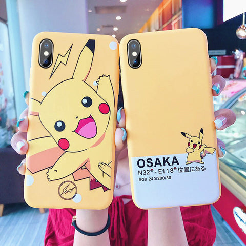 Lovely Pikachu Phone Case for iphone 6/6s/6plus/7/7plus/8/8P/X/XS/XR/XS Max JK1424